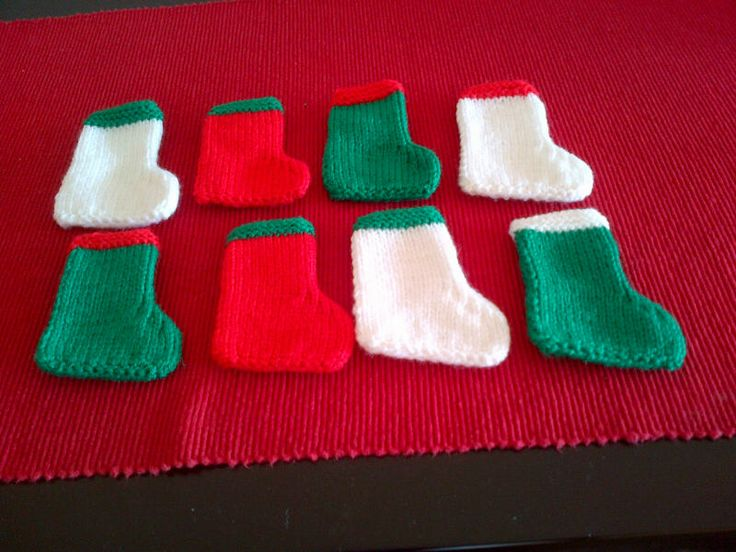 Knitted Christmas Mini Stockings