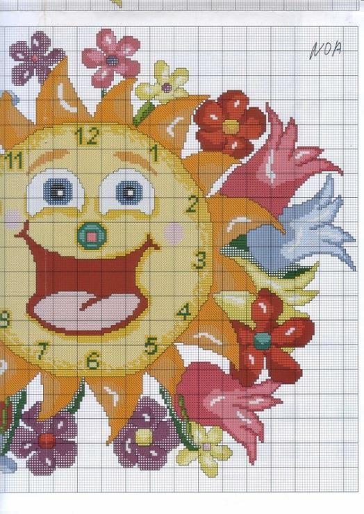 Orologio fiori 3