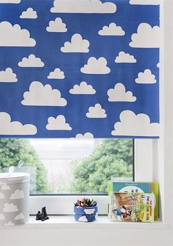 Färg & Form, Moln, Rullegardin, Blå, 100 cm á www.Petit.is