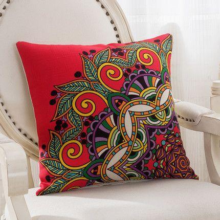 Classic Vintage Mediterranean Style Throw Pillow Case