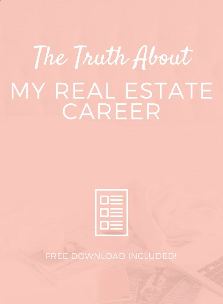 Lets get real for a minute. Im not the agent I was when I started. I was a lot of things when I got into real estate. And completely oblivious to...