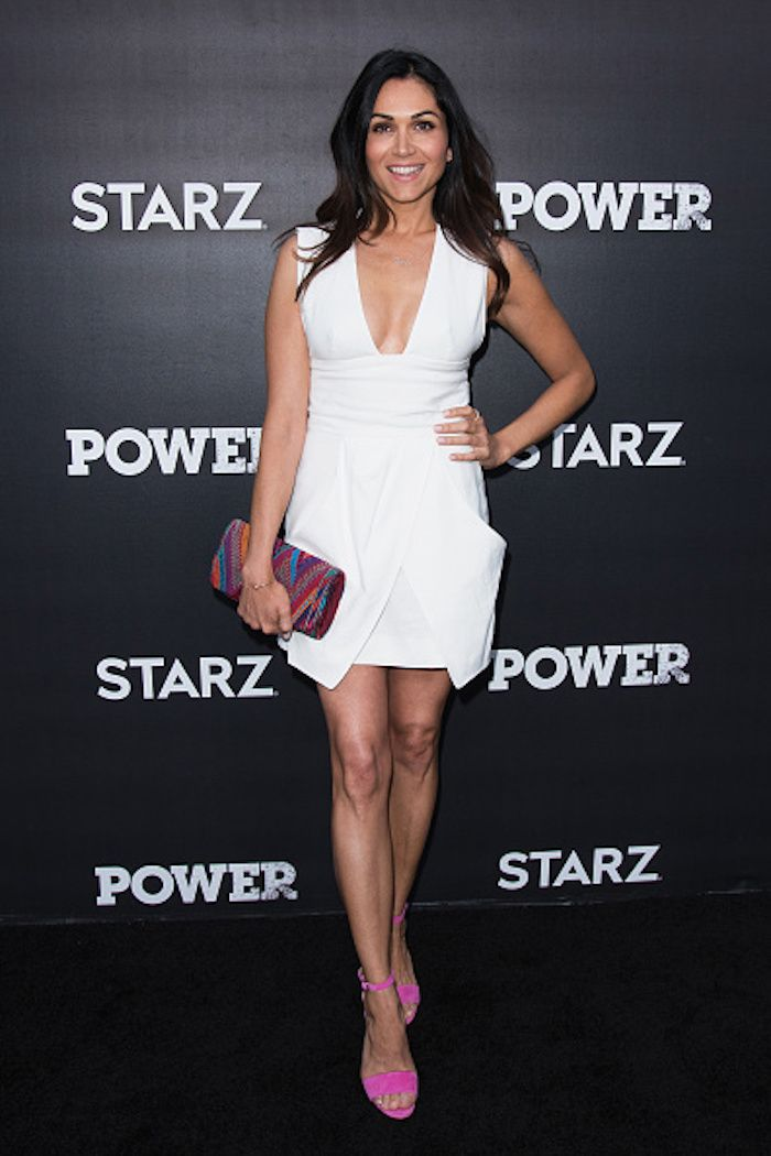 the lovely lela loren wore a white hot dress at the for