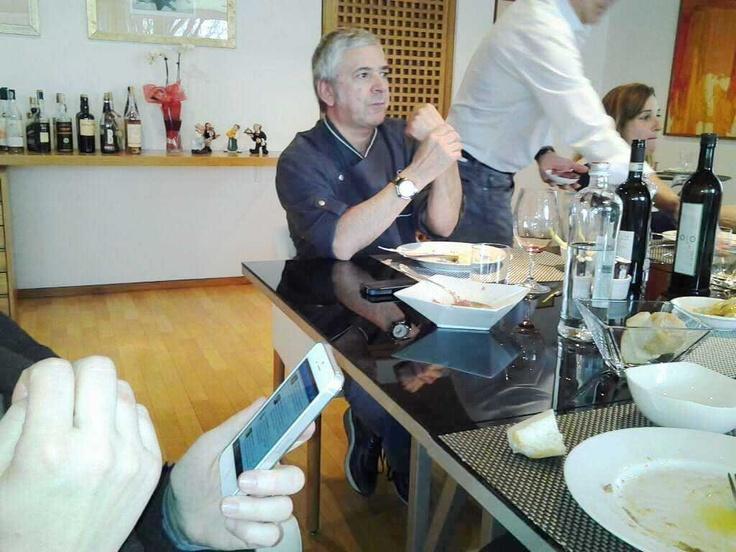 """Con Walter Ferretto parlando di """"social"""" a tavola"""