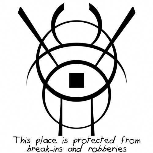 Home protection symbol for break-in & robberies #homeprotection