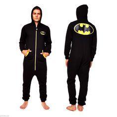 Batman Onesie Adult Jumpsuit Onesies for Men Mens Onsie Bat Man Clothing | eBay
