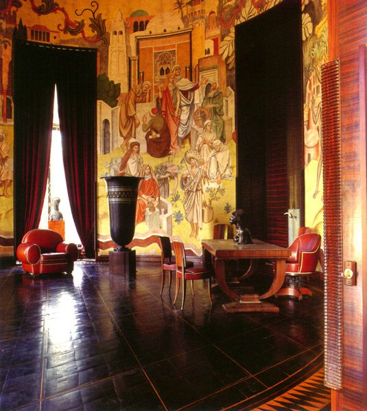 art deco interior - http://www.ruhlmann.info/images/interiors/04.jpg