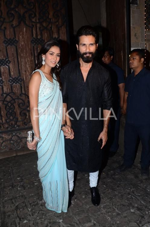 Shahid Kapoor-Mira Rajput step out in style for Anil Kapoor's diwali party | PINKVILLA