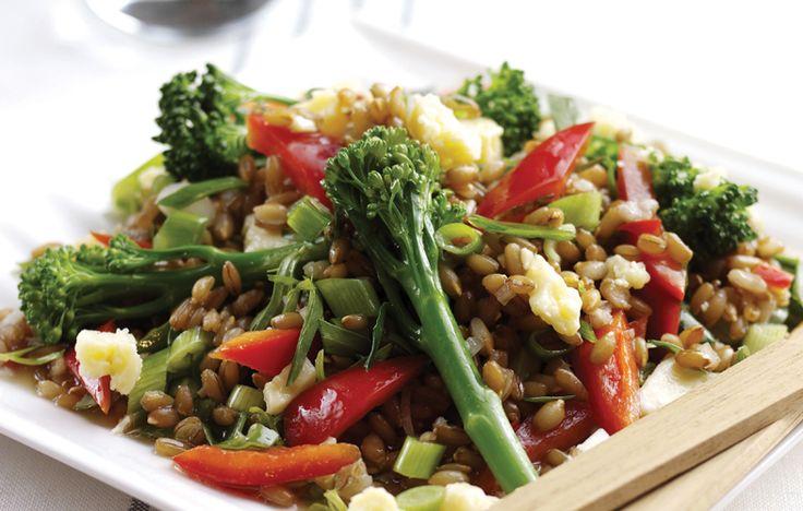 Tenderstem, rye kernel and tarragon salad