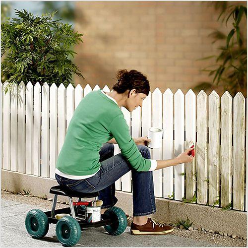 Siedzisko na kółkach - do prac ogrodowych