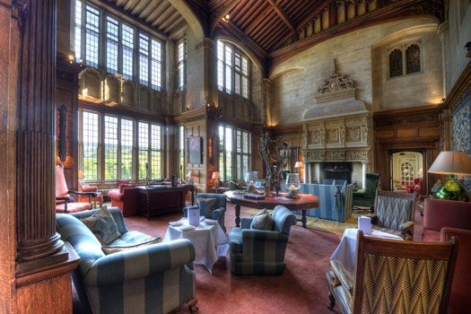 The Cathedral Room at Bovey Castle - where our civil ceremony will take place