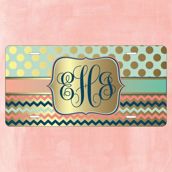 Monogram License Plate Personalized by PersonallyYoursCases