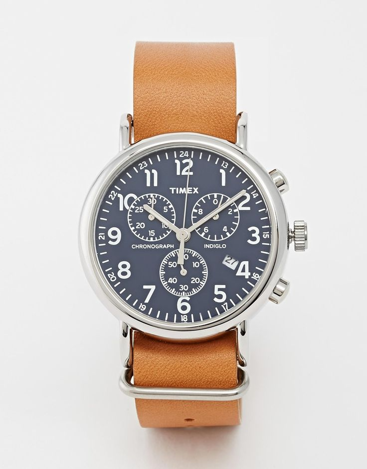 Timex+Weekender+Chronograph+Military+Strap+Watch