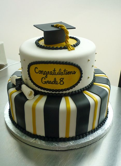 Black and Gold Graduation | by Coco Cake Co.