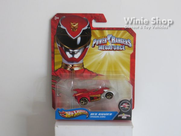 RED RANGER - DRAGON ZORD - 2013 HOT WHEELS SABAN'S POWER RANGERS MEGAFORCE SERIES