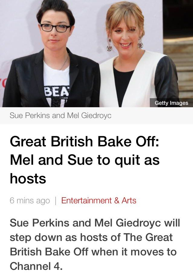 Mel and Sue leaving Bake Off: how social media reacted | Television & radio | The Guardian