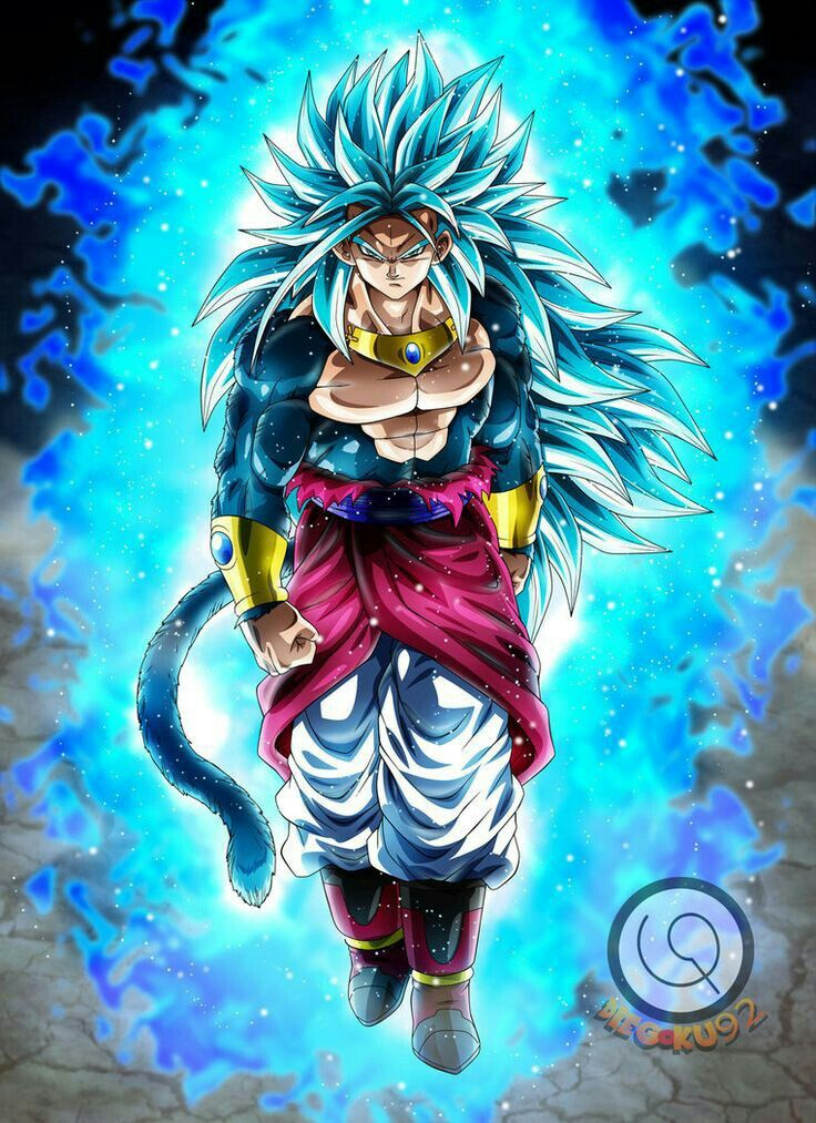 Broly god blue 3 dbz dragon ball dragon ball z - Broly dragon ball gt ...