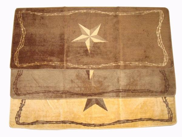 Rustic Star Rugs Add A Western Touch To Any Bathroom Or Kitchen With These  Western Theme