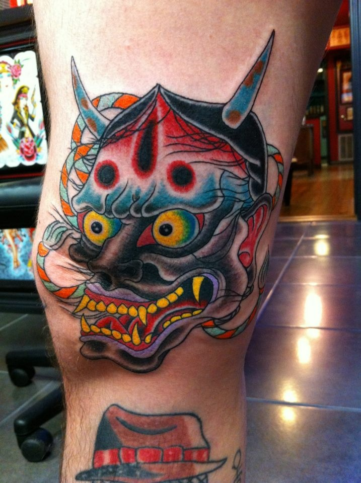 Traditional Hanya Mask Tattoo: 17 Best Images About Hannya Mask Tattoos On Pinterest