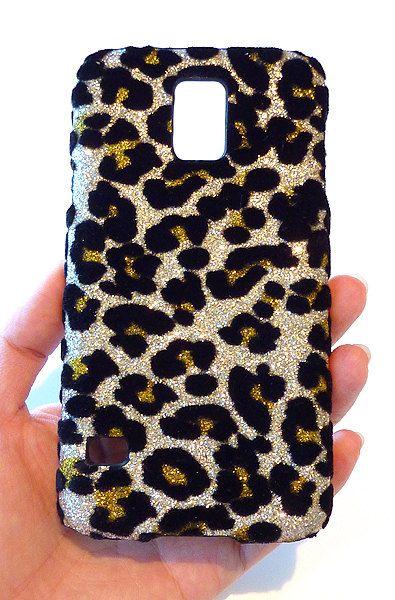 Samsung Galaxy S 5 s5 i9600 Velvet Leopard Glitter by Yunikuna, $35.00