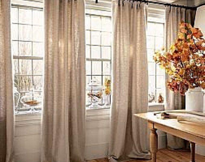 Burlap Curtain Panels Colors Valances Window Curtain French