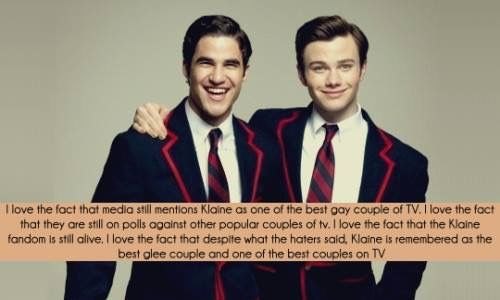 I do love Klaine but they weren't the best couple (they were 2nd best in my opinion) if Cory was still alive then Finchel would've been Glee's #1 couple till the very end