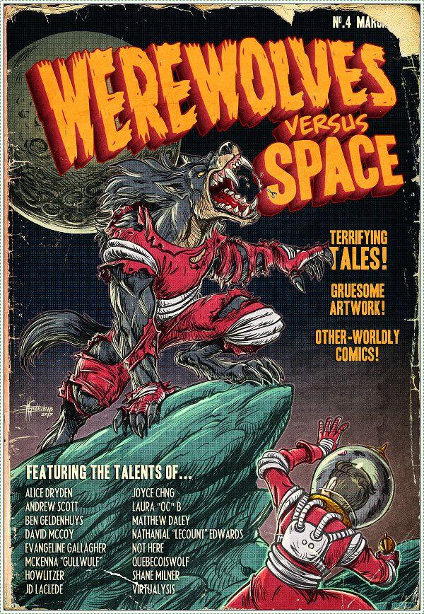 South African Comics News Roundup: Werewolves, Zines, Stray, And Video News From Africa #sacomics Werewolf art by Ben G Geldenhuys for Werewolves Versus: Space zine
