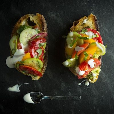 Make Avocado Toasts with Heirloom Tomatoes with this recipe from Julya Shin of Pizzaiolo in Oakland, CA
