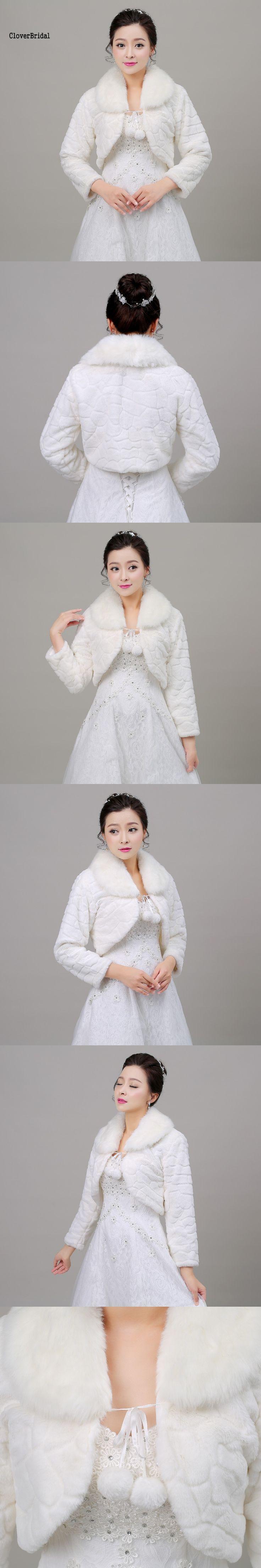 New Noble Modern Two Colors White Brown Fur Cape Mariage Jacket Women Winter Faux Fur Wraps Coats Women Outdoor Accessories