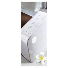 The Sharper Image Sound soother featuring 12 relaxing digital sound recordings that help improve sleep, relieve stress and increase focus. 30/60/90 min sleep timer with gradual fade of each program. Backlit control pannel with adjustable brightness.