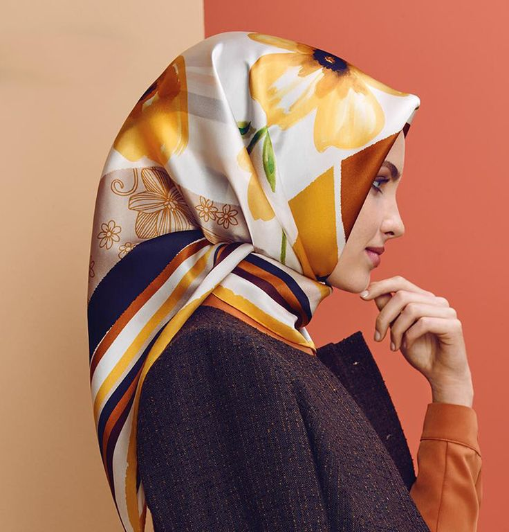 Armine Silk Hijab Scarf Fall 2015 - Winter 2016 # 7283 - Modefa USA LLC