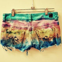 .: Tie Dye, Fashion, Rocker, Short Shorts, Style, Clothes, Hippy, Ties, Dyes