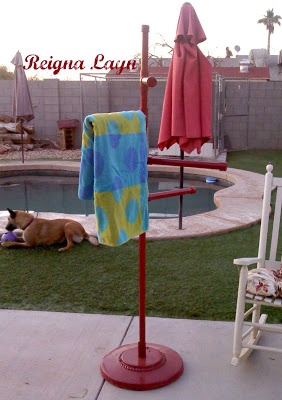 Frontgate Pool Towel Stand Knockoff