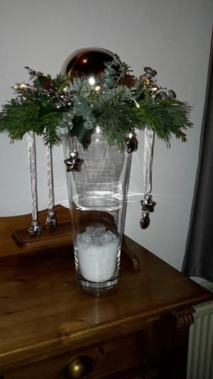 Bekijk de foto van kleijtje met als titel Mooi Kerststuk en andere inspirerende plaatjes op Welke.nl.weihnachts DECO