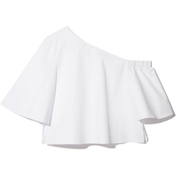 Whether worn with the Back-Wrap Skirt as a matching set or as the statement piece to a basic pair of pants, this shoulder-baring cotton blouse—the single...