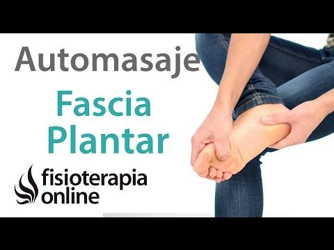 Auto-masaje de la fascia plantar para el tratamiento de la fascitis plantar - YouTube