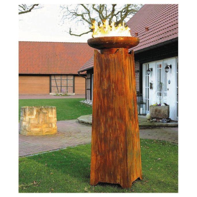 Gartenfackel in Rost-Optik ø 790 x 2150 mm