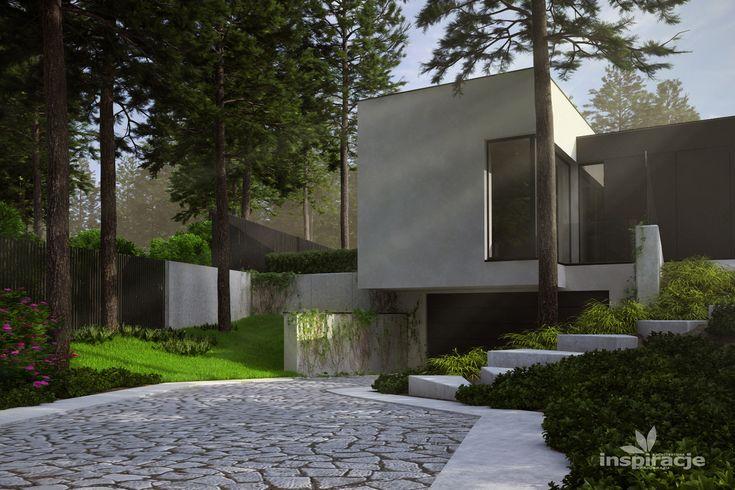 Projekt nowoczesnego lenego ogrodu  ogrd luksusowy