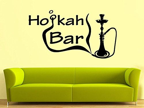 Wall Decal Vinyl Sticker Decals Art Decor Design Hookah Bar Lounge Tobacco  Smoke Mans Gift Bedroom