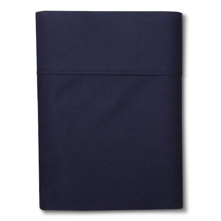 Ultra Soft Flat Sheet (Twin Extra Long) Navy (Blue) 300 Thread Count - Threshold