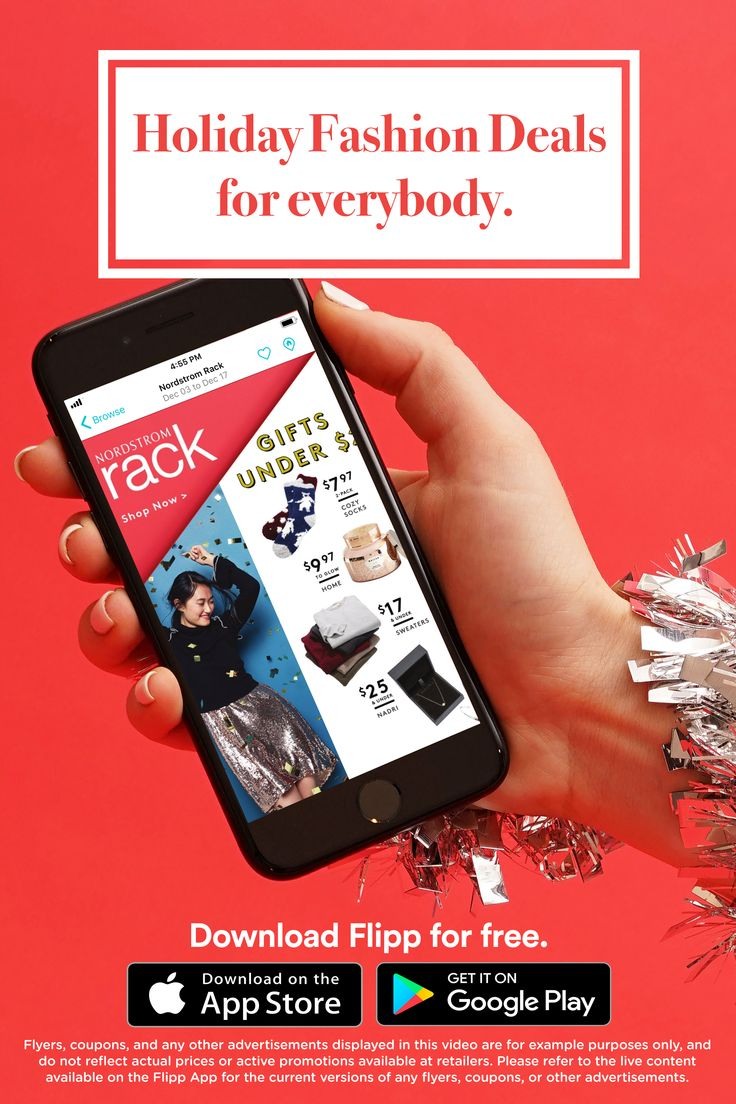 All of your favorite fashion deals in one place: the Flipp app. Find make ups, cloth, shopping list and saving money during the holiday season. Download for free.