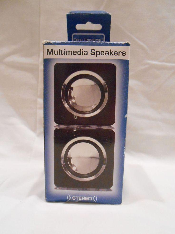 Tech Universe Cube Multimedia USB Speakers with Cool Blue LED Light - TU1369 NEW #TechUniverse