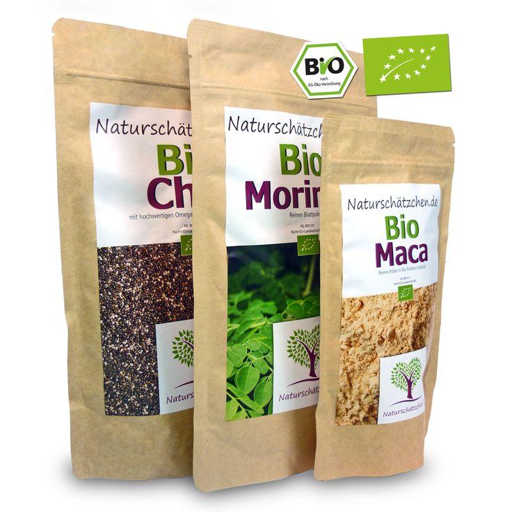 3x #Superfood: 1x Bio #Chia Samen 500g, 1x Bio #Moringa Pulver 250g und 1x Bio #Maca Pulver 250g. Du suchst noch nach einer idealen #Geschenkidee für Deine Liebsten, Freunde oder Familie? Dann verschenke doch etwas Gutes für die Gesundheit. Das Kombi-Paket eignet sich wunderbar als #Geburtstagsgeschenk oder nettes Dankeschöngeschenk... darüber freut sich sicher jeder! Zum #Angebot http://www.naturschaetzchen.de/Chia-Samen/3-x-Superfood-Bio-Chia-Bio-Moringa-und-Bio-Maca::17.html