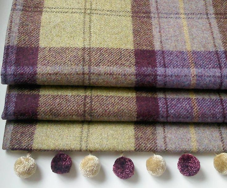 blackberry tweed roman blind by the nursery blind company | notonthehighstreet.com