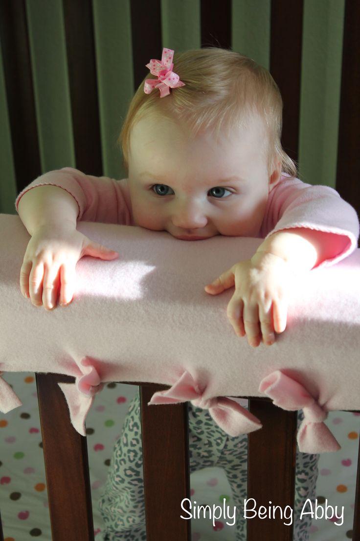 Easy DIY Crib Teething Guard | Simply Being Abby