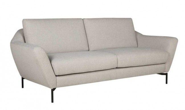 Agda 2,5-sits soffa Flossy 6 light grey