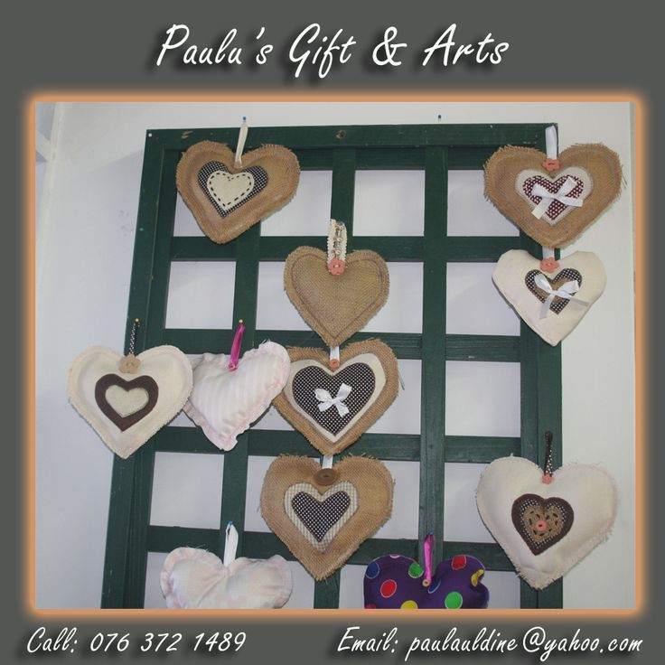 These hearts are available in our store in Diaz. Call us on: 076 372 1489 See more at: tinyurl.com/qg7f74n #Gifts #Arts #Crafts