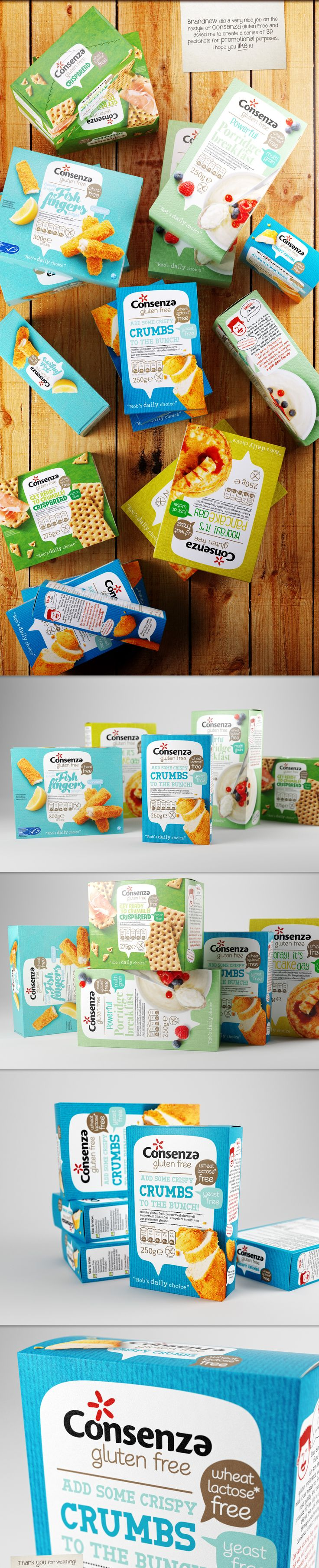 Consenza 3D packshots on Behance