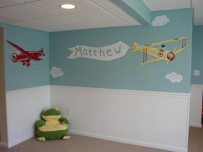 9 best images about vliegtuig kamer idees on pinterest Vintage airplane decor for nursery
