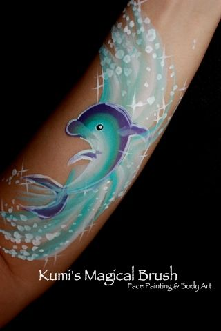 Im upgrading my tired arm dolphin face painti to this one... love it