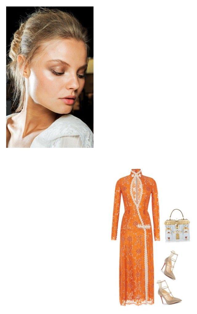 """I've Got A Crush On You"" by venus-in-fleurs on Polyvore featuring moda, Christian Louboutin, Alessandra Rich, Dolce&Gabbana e Roberto Cavalli"